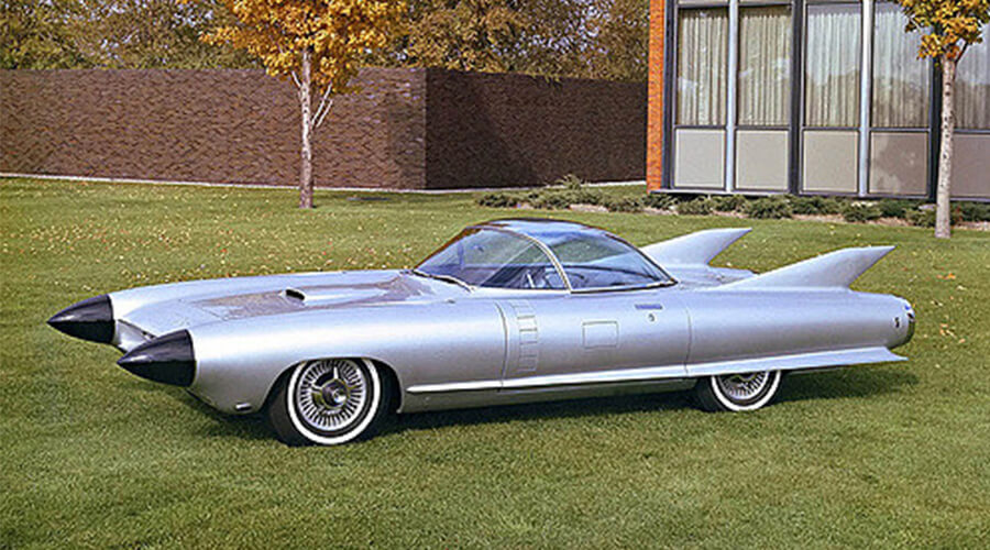 Cadillac cyclone on grass