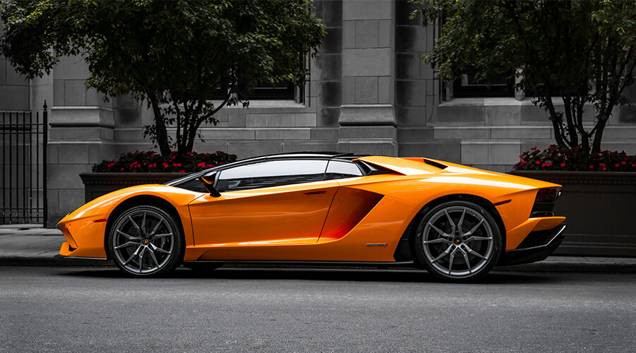 orange lamborghini