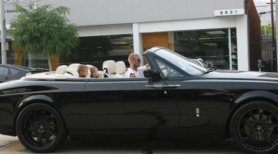david beckham rolls royce